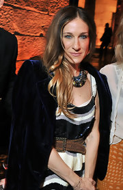 Sarah Jessica Parker attended the 'Smash' premiere after party wearing her hair styled with a center part and cut in long layers.