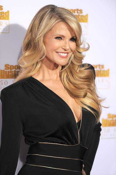 Christie Brinkley looked as gorgeous as ever with her fabulous blond waves at the Sports Illustrated Swimsuit Issue 50th anniversary bash.
