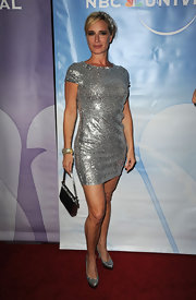 Sonja Morgan shone in glittery pointy toe platforms.