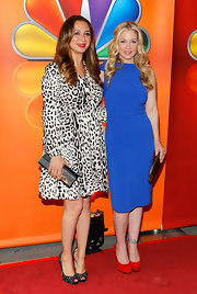 Christina Applegate was a standout at the NBC Upfront presentation in this rich blue dress.