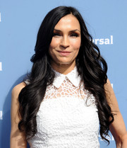 Famke Janssen was sweetly coiffed with long spiral curls at the NBCUniversal Upfront.
