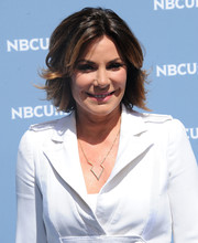 LuAnn de Lesseps looked chic with her layered razor cut at the 2016 NBCUniversal Upfront Presentation.