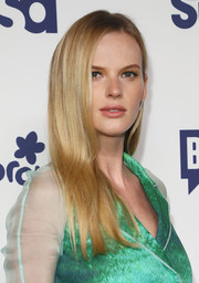 Anne V went for a sleek look with this long straight hairstyle during the NBCUniversal Cable Entertainment Upfronts.