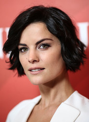 Jaimie Alexander styled her short locks with cute waves for the NBCUniversal Press Tour.