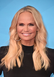 Kristin Chenoweth wore her hair in boho waves at the 2018 NBCUniversal Summer Press Day.