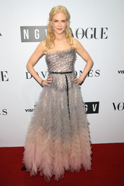 Nicole Kidman looked mesmerizing in an ombre ruffle ball gown by Christian Dior Couture at the NGV Gala.