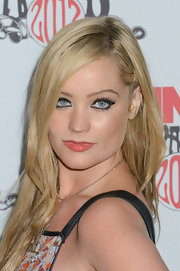Laura Whitmore attended the 2012 NME Awards wearing her long locks in trendy layers and a side part.