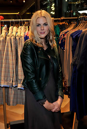 Donna showed off her street edge by pairing her maxi dress with a motorcycle jacket.