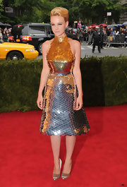 Carey Mulligan showed us her version of a '50s mermaid in this paillette halter dress at the Met Gala.