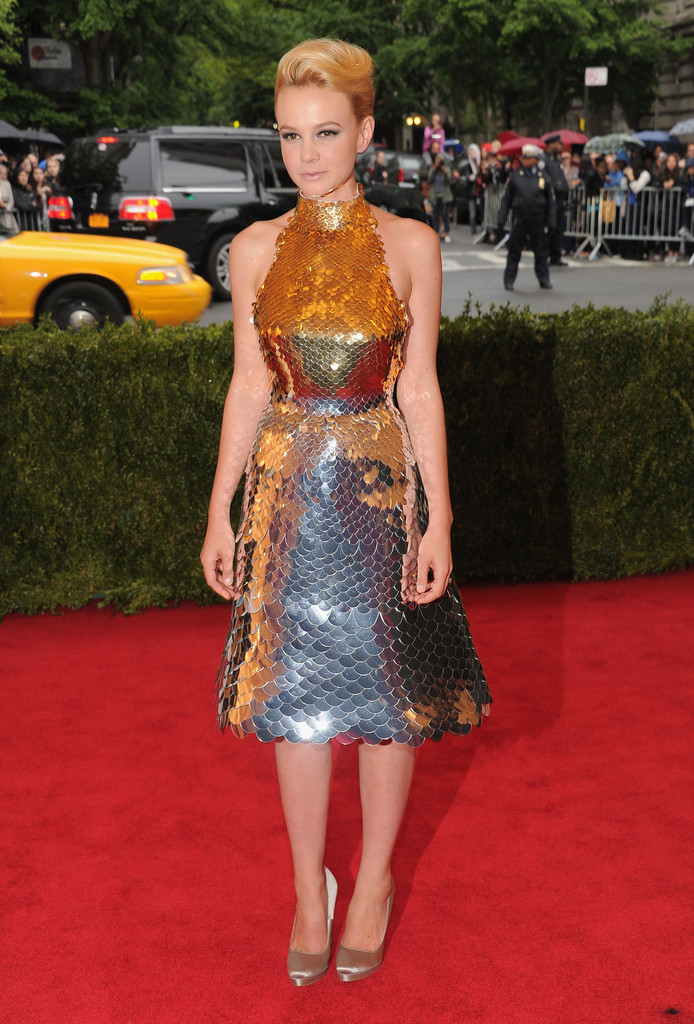 "Actress Carey Mulligan attends the ""Schiaparelli And Prada: Impossible Conversations"" Costume Institute Gala at the Metropolitan Museum of Art on May 7, 2012 in New York City."