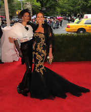 Andrea Dellal wore a tulle gown inspired by Sicilian Baroque for the Met Gala.