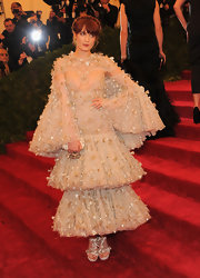 Florence Welch looked very literally like the bell of the ball in this tiered embellished number.