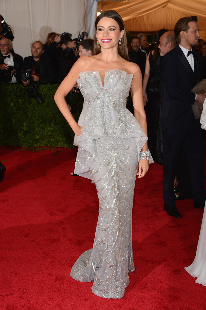 "Sofia Vergara attends the ""Schiaparelli And Prada: Impossible Conversations"" Costume Institute Gala at the Metropolitan Museum of Art on May 7, 2012 in New York City."