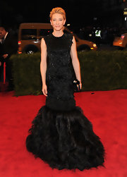 Cate Blanchett took the black gown to a whole new level in this entirely feathered creation.