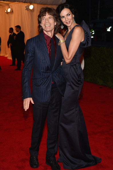 Mick Jagger donned an opulent sapphire blue suit at the 2012 Costume Institute Gala in NYC.
