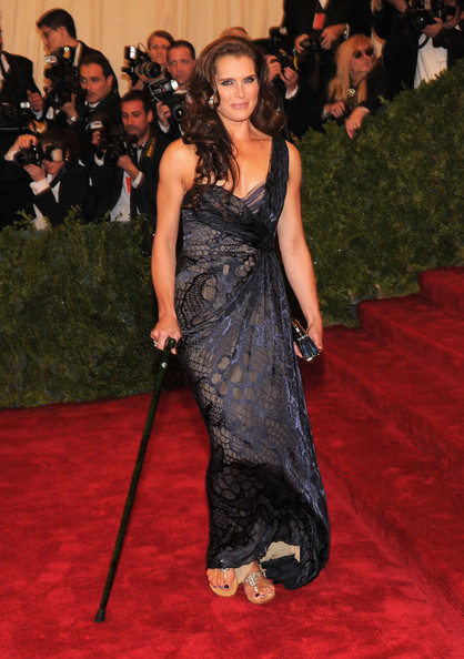 Brooke Shields in J. Mendel