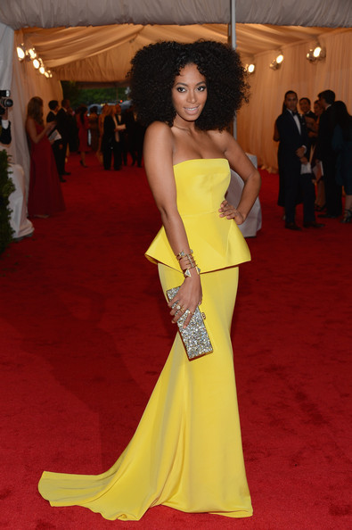 More Pics of Solange Knowles Strapless Dress (4 of 13) - Dresses & Skirts Lookbook - StyleBistro