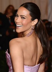 Paula Patton swept her hair back into a sleek ponytail for the Met Gala.