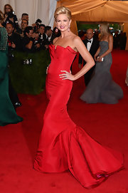 You can't go wrong with a red ball gown on the red carpet!