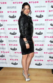 Katrina Law stole the show in a leather jacket at a NYLON Magazine event.
