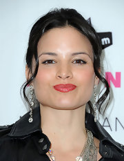 Katrina Law's pretty pout shined in luminous lip gloss at a NYLON Magazine event in Los Angeles.