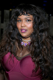 Lizzo dazzled with her iridescent gemstone necklace at the SXSTYLE event.
