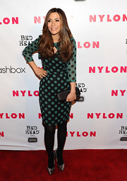 Marisol Nichols wore a pair of textured metallic pewter pumps to the 'Nylon' magazine 13th anniversary celebration.