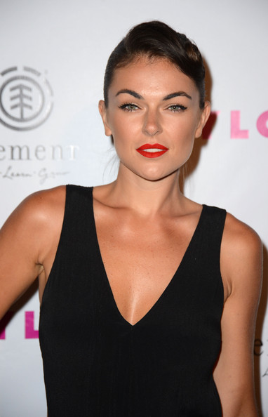 More Pics of Serinda Swan Red Lipstick (1 of 4) - Serinda Swan Lookbook - StyleBistro