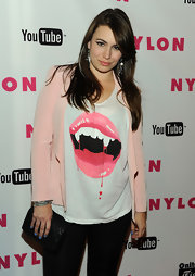 Sophie Simmons attended an event by 'Nylon Magazine' wearing a graphic tee.