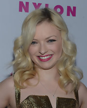 Francesca Eastwood wore her platinum locks in polished-looking curls while attending a celebration for 'Nylon' magazine's young Hollywood issue.