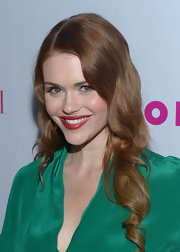 Holland Roden wore her long coppery locks in subtle curls while attending the 'Nylon' magazine celebration of the young Hollywood issue.