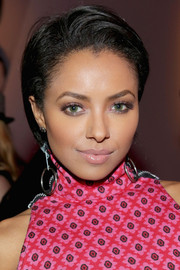 Kat Graham attended the Nylon issue party wearing a breezy side-parted short 'do.
