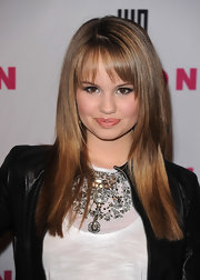 Debby Ryan opted for a sleek and straight hairstyle at the NYLON & YouTube Young Hollywood party.