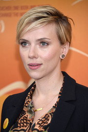 Scarlett Johansson rocked an edgy short 'do at the New York premiere of 'He Named Me Malala.'