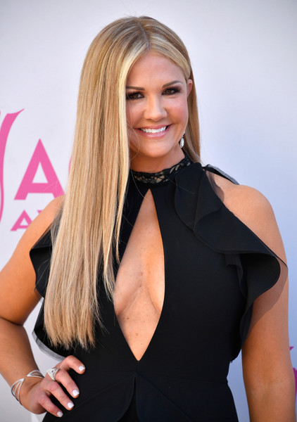 Nancy O'Dell Long Straight Cut [nancy odell,arrivals,hair,blond,hairstyle,clothing,beauty,little black dress,long hair,dress,model,brown hair,las vegas,nevada,toshiba plaza,academy of country music awards]