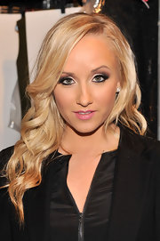 Nastia Liukin's baby doll pink lip color was subtle but still feminine at the Nanette Lepore runway show.