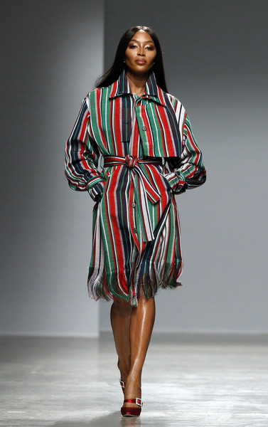 Naomi Campbell Shirtdress [fashion model,runway,clothing,fashion,fashion show,fashion design,day dress,outerwear,dress,sleeve,kenneth ize,naomi campbell,part,runway,british,paris,france,paris fashion week womenswear fall,runway,fashion show,fashion,supermodel,model]