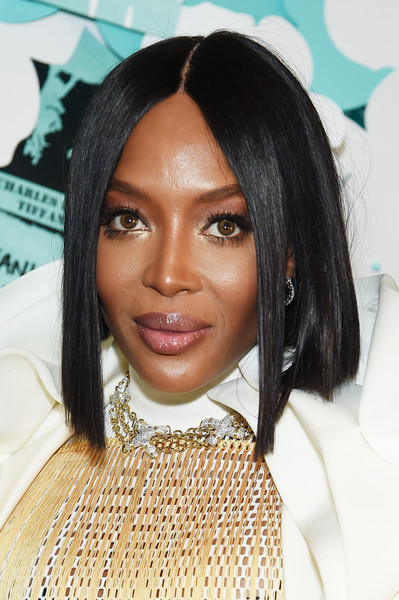 Naomi Campbell Graduated Bob [hair,face,hairstyle,eyebrow,black hair,lip,forehead,beauty,chin,long hair,naomi campbell,believe in dreams campaign launch,new york city,tiffany co,paper flowers event,event,campaign launch]