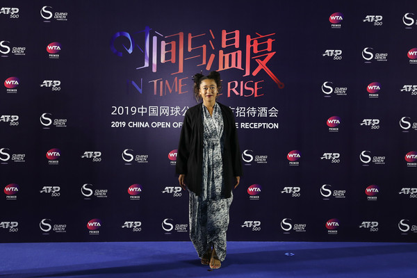 Naomi Osaka Wrap Dress [font,screenshot,naomi osaka,china open,reception,beijing olympic tower,japan,china]