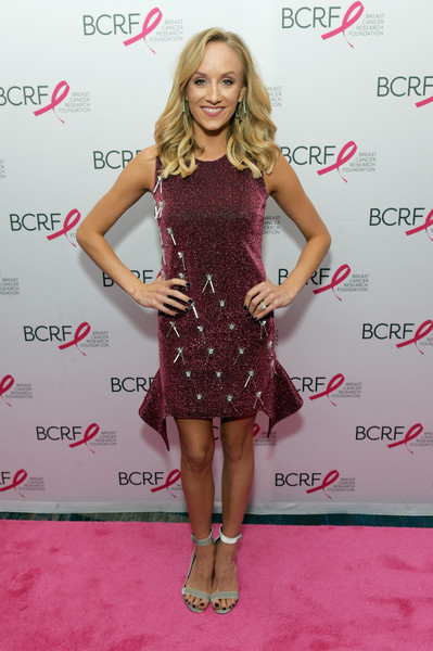Nastia Liukin Beaded Dress [clothing,dress,cocktail dress,fashion model,red carpet,hairstyle,carpet,footwear,fashion,premiere,nastia liukin,new york symposium and awards,luncheon,new york city,new york hilton,breast cancer research foundation,new york symposium and awards luncheon]