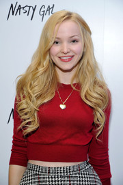 Dove Cameron looked darling with her perfectly sculpted waves at the Nasty Gal Melrose store launch.