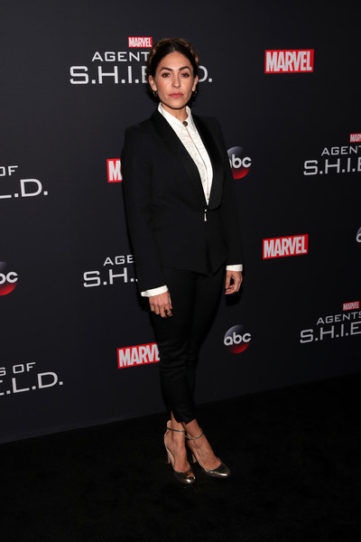 Natalia Cordova-Buckley Pantsuit [marvels agents of s.h.i.e.l.d.,suit,clothing,formal wear,premiere,tuxedo,carpet,red carpet,outerwear,footwear,event,arrivals,natalia cordova-buckley,ohm nightclub,california,hollywood,abc,episode celebration,episode celebration]