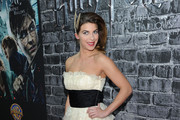 Natalia Tena Strapless Dress