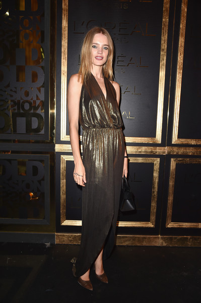 Natalia Vodianova Halter Dress