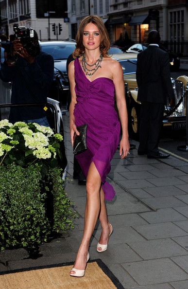 Natalia Vodianova One Shoulder Dress