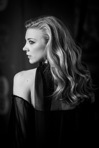 Natalie Dormer Long Wavy Cut [image,hair,face,black,photograph,blond,black-and-white,beauty,hairstyle,lady,monochrome photography,red carpet arrivals,natalie dormer,ee,england,london,royal albert hall,british academy film awards]