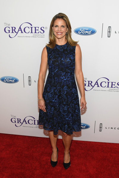 Natalie Morales Embroidered Dress [clothing,dress,cocktail dress,red carpet,carpet,cobalt blue,hairstyle,fashion,footwear,electric blue,arrivals,natalie morales,beverly wilshire hotel,beverly hills,california,annual gracie awards]