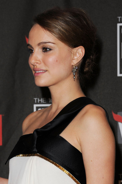 Natalie Portman Dangling Diamond Earrings