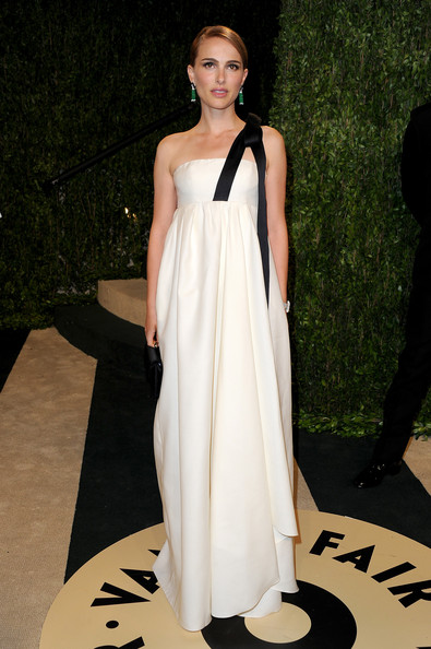 Natalie Portman One Shoulder Dress