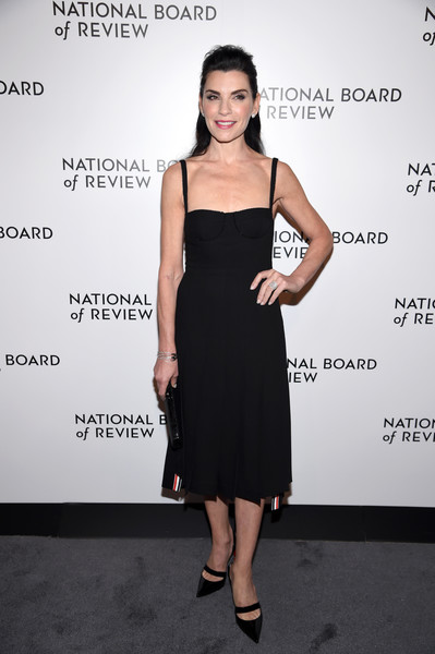 More Pics of Julianna Margulies Half Up Half Down (1 of 6) - Updos Lookbook - StyleBistro [julianna margulies,arrivals,little black dress,fashion model,dress,cocktail dress,flooring,shoulder,joint,catwalk,fashion,formal wear,national board of review annual awards gala,the national board of review annual awards gala,new york city,cipriani 42nd street]
